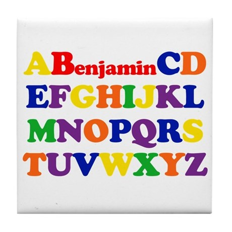 Benjamin - Alphabet Tile Coaster