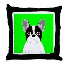 Frenchy (Pied) Throw Pillow