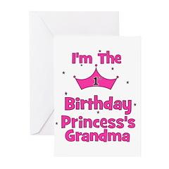 1st Birthday Princess's Grand Greeting Cards (Pk o