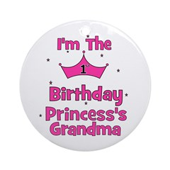 1st Birthday Princess's Grand Ornament (Round)