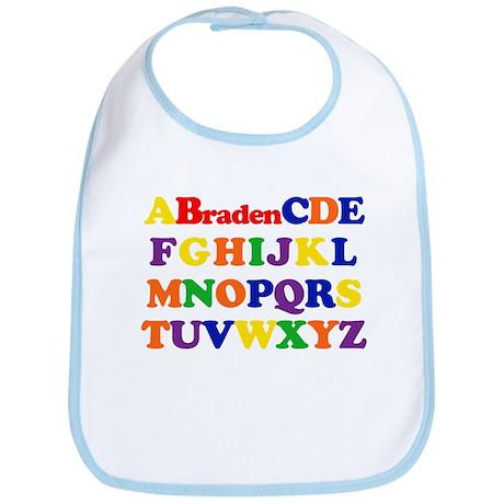 Braden - Alphabet Bib