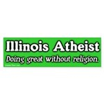 Illinois Atheist Bumper Sticker