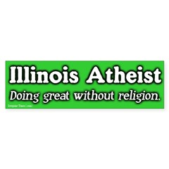 Illinois Atheist Bumper Bumper Sticker