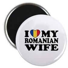 I Love my Romanian Wife Magnet