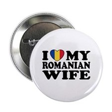 "I Love my Romanian Wife 2.25"" Button"