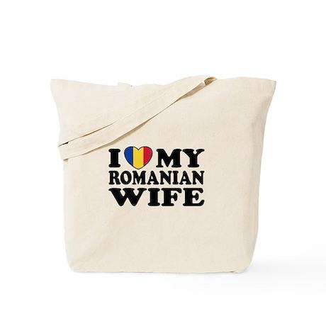 I Love my Romanian Wife Tote Bag