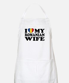 I Love my Romanian Wife BBQ Apron