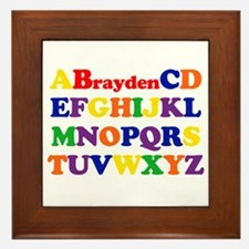 Brayden - Alphabet Framed Tile