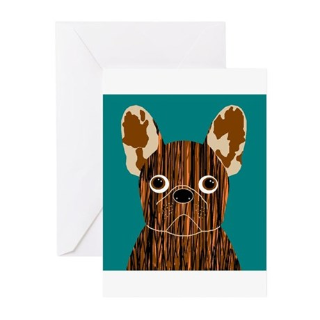 Frenchy (Brindle) Greeting Cards (Pk of 20)