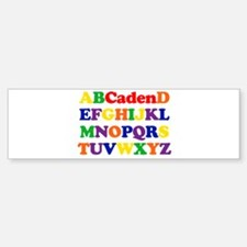 Caden - Alphabet Bumper Bumper Bumper Sticker