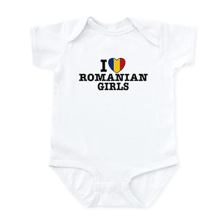 I Love Romanian Girls Infant Bodysuit