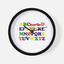 Charlie - Alphabet Wall Clock