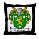 O'Malone Family Crest Throw Pillow