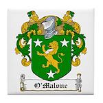 O'Malone Family Crest Tile Coaster