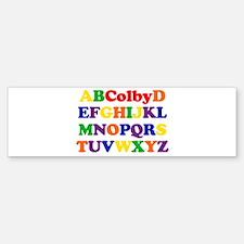 Colby - Alphabet Bumper Bumper Bumper Sticker