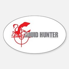 Squid Motorcycle Oval Decal