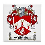 O'Meighan Family Crest Tile Coaster