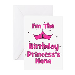 1st Birthday Princess's Nana! Greeting Cards (Pk o
