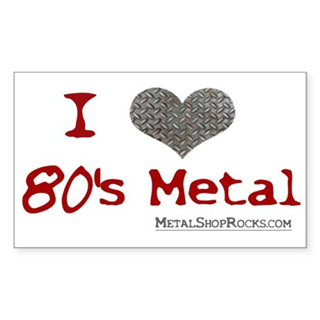 80's Metal Rectangle Sticker