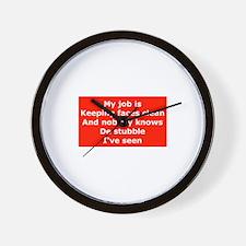 Burma Shave Slogan Wall Clock