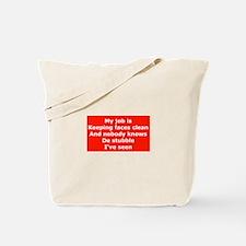 Burma Shave Slogan Tote Bag