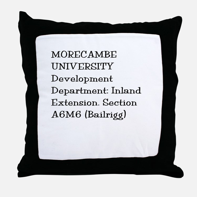 Morecambe University Throw Pillow