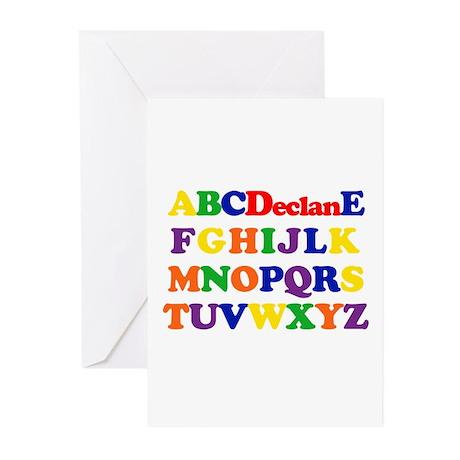 Declan - Alphabet Greeting Cards (Pk of 10)