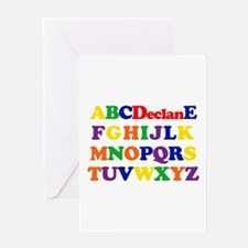 Declan - Alphabet Greeting Card