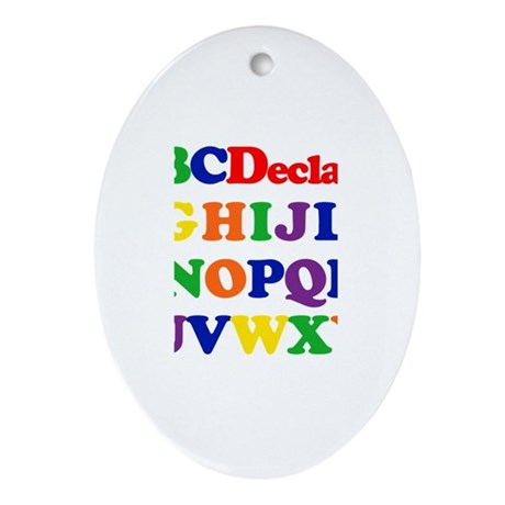 Declan - Alphabet Oval Ornament