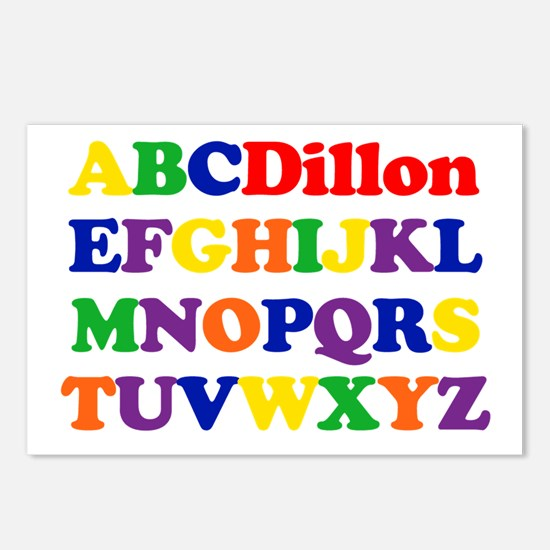 Dillon - Alphabet Postcards (Package of 8)