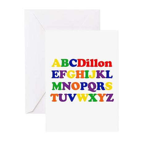 Dillon - Alphabet Greeting Cards (Pk of 10)