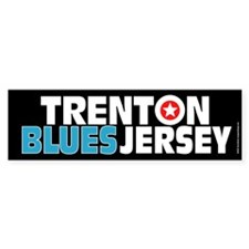 Trenton Blues Jersey Bumper Bumper Sticker