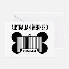 AUSTRALIAN SHEPHERD PRICELESS Greeting Cards (Pk o