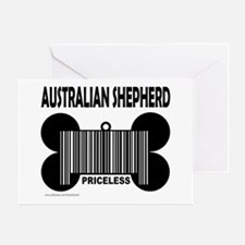 AUSTRALIAN SHEPHERD PRICELESS Greeting Card