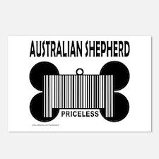 AUSTRALIAN SHEPHERD PRICELESS Postcards (Package o