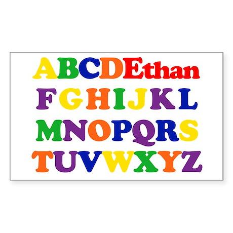 Ethan - Alphabet Rectangle Sticker