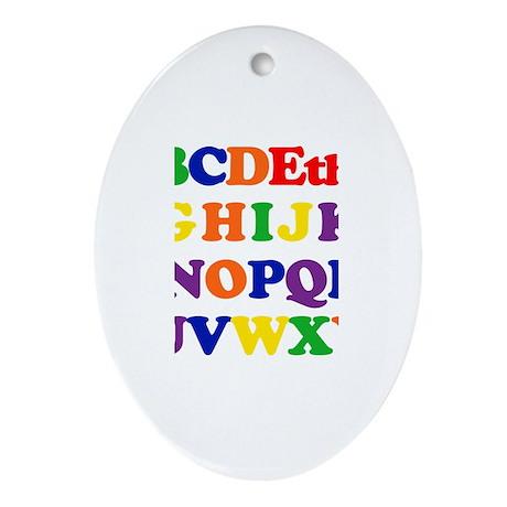 Ethan - Alphabet Oval Ornament