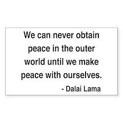 Dalai Lama 14 Rectangle Decal