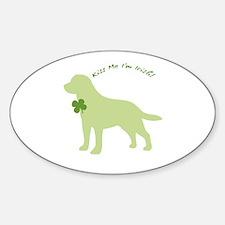 Labrador Retriever... Kiss Me I'm Irish! Decal