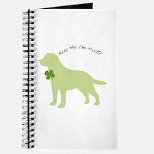 Labrador Retriever... Kiss Me I'm Irish! Journal