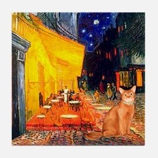 Cafe & Red Abyssinian (S) Tile Coaster