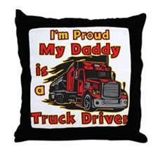 Proud of Daddy Throw Pillow