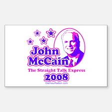 McCain Express 2 Rectangle Decal