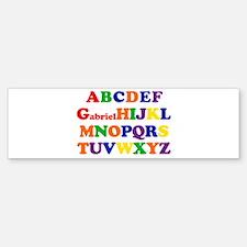 Gabriel - Alphabet Bumper Bumper Bumper Sticker