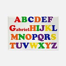 Gabriel - Alphabet Rectangle Magnet