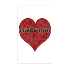 Fuzzy Hug Rectangle Decal