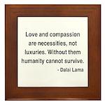 Dalai Lama 15 Framed Tile