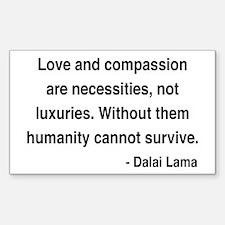 Dalai Lama 15 Rectangle Decal