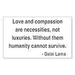Dalai Lama 15 Rectangle Sticker