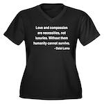 Dalai Lama 15 Women's Plus Size V-Neck Dark T-Shir